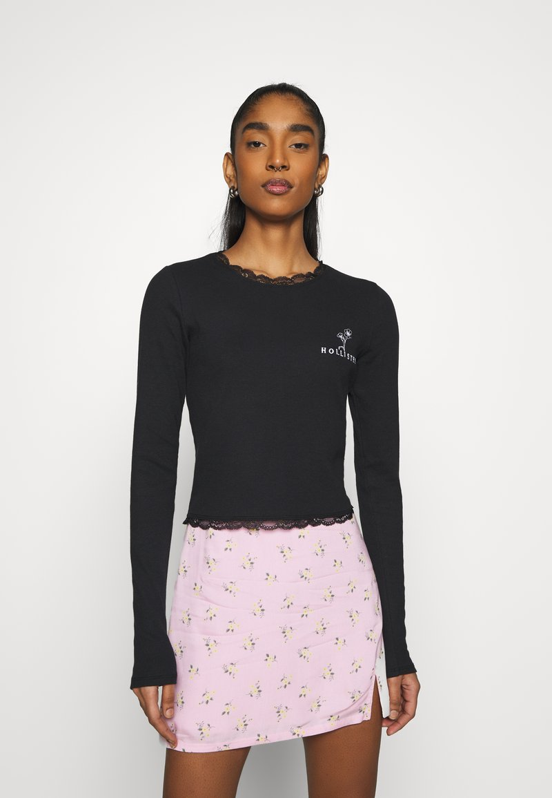 Hollister Co. - SLIM TREND - Long sleeved top - black