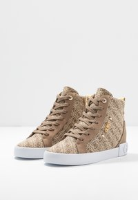 Guess - PORTLY - Sneaker high - beige/brown - 4
