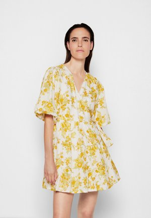 ROONEY WRAP MINI DRESS - Day dress - linden