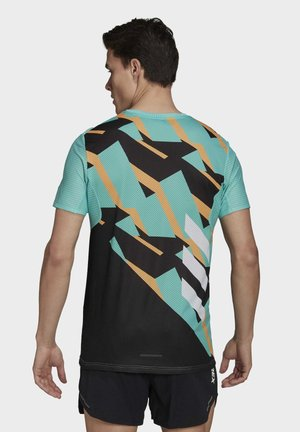 TERREX PARLEY AGRAVIC TRAIL RUNNING PRO T-SHIRT - T-shirt med print - teal