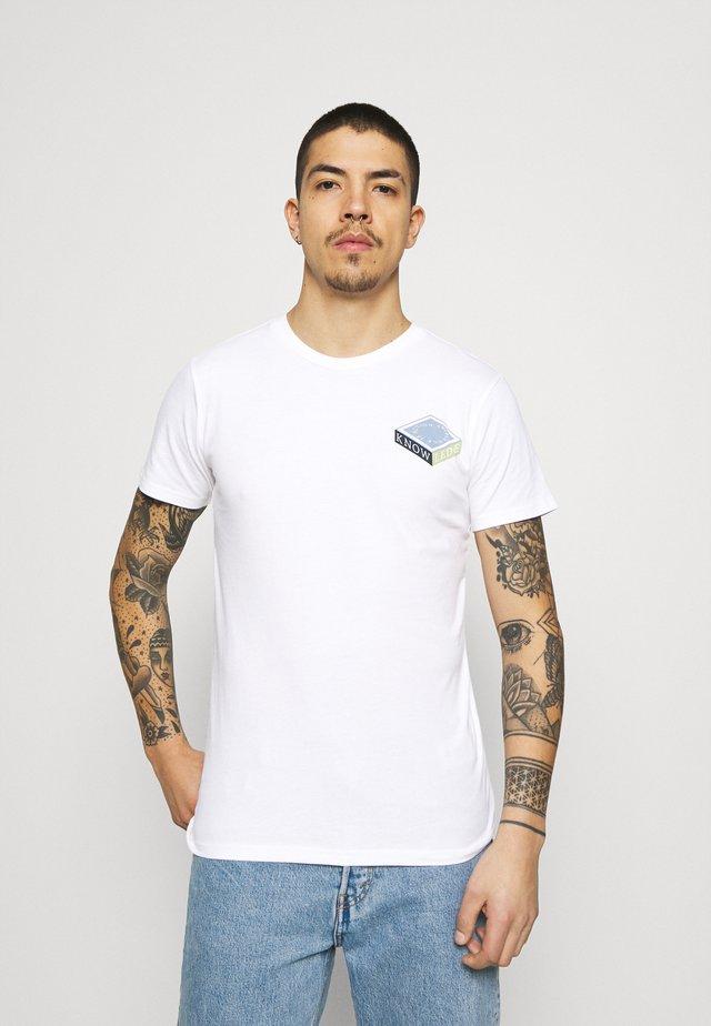 ALDER TEE  - T-shirt print - bright white