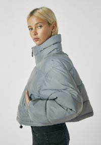 PULL&BEAR - Winter jacket - metallic grey - 3