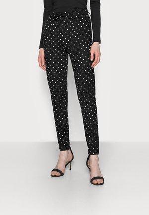 ONLPOPTRASH EASY DOT PANT PNT TALL - Trousers - black