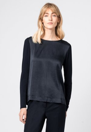 Long sleeved top - donkerblauw