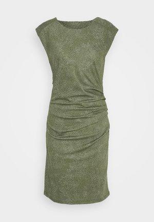 KAJUDI INDIA DRESS - Shift dress - olivine