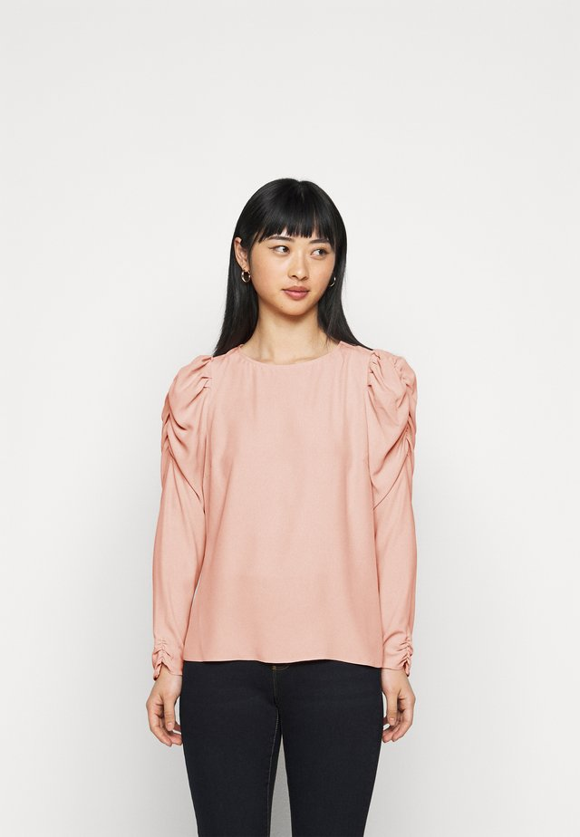 PETITES SUSTAINABLE LONG SLEEVE PUFF SHOULDER TOP - Blůza - pink
