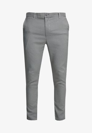 ALBERT - Trousers - black/cream