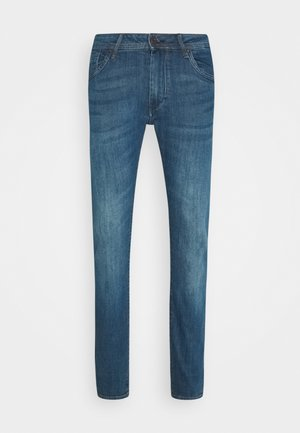LIAM - Jeansy Slim Fit - washed dark blue denim