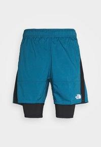 The North Face - ACTIVE TRAIL DUAL SHORT - Pantalón corto de deporte - mallard blue/black - 3