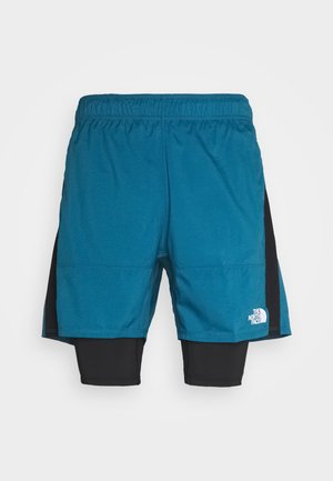 ACTIVE TRAIL DUAL SHORT - Urheilushortsit - mallard blue/black