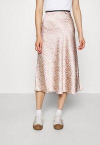 ARKET - MAXI SKIRT - A-line skirt - orange/dusty light - 0