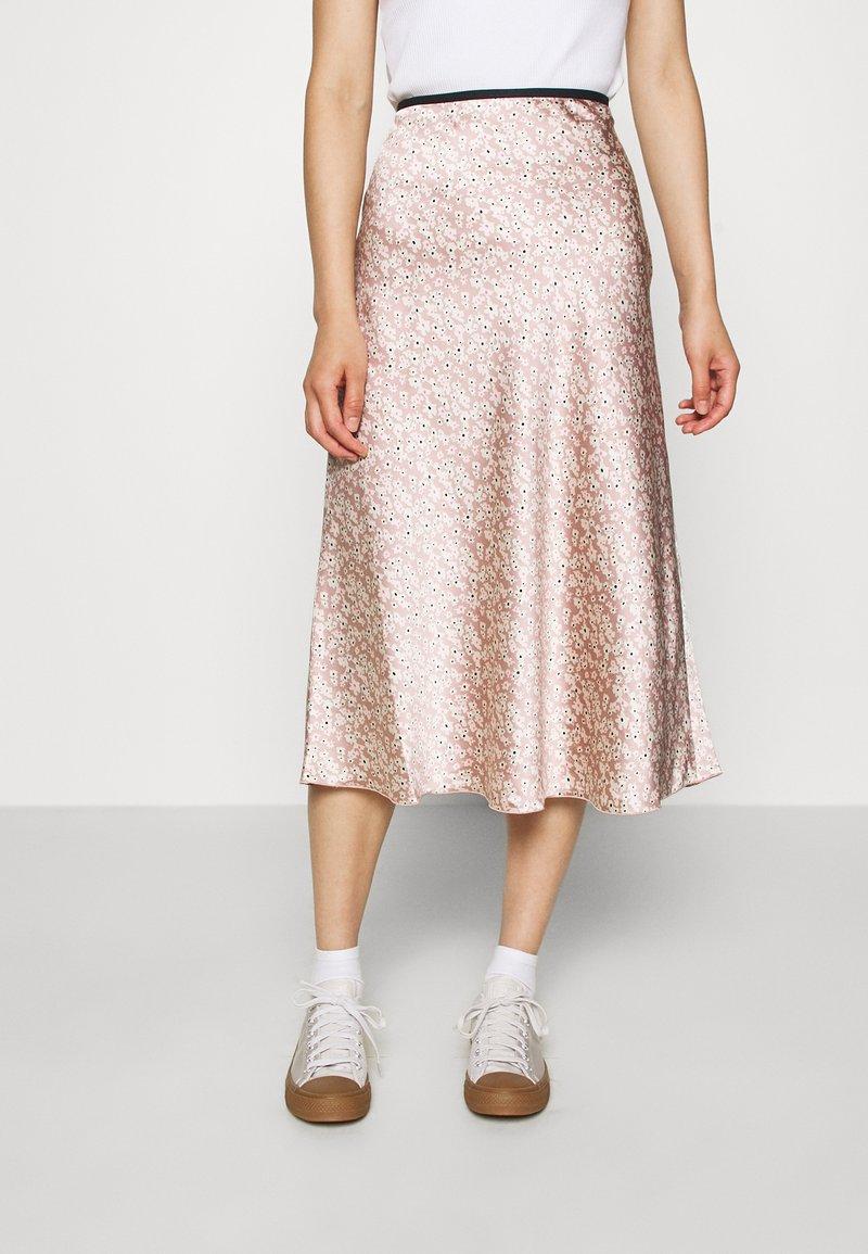 ARKET - MAXI SKIRT - A-line skirt - orange/dusty light