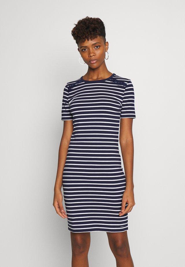 EDEN MIX DRESS - Vestido ligero - navy