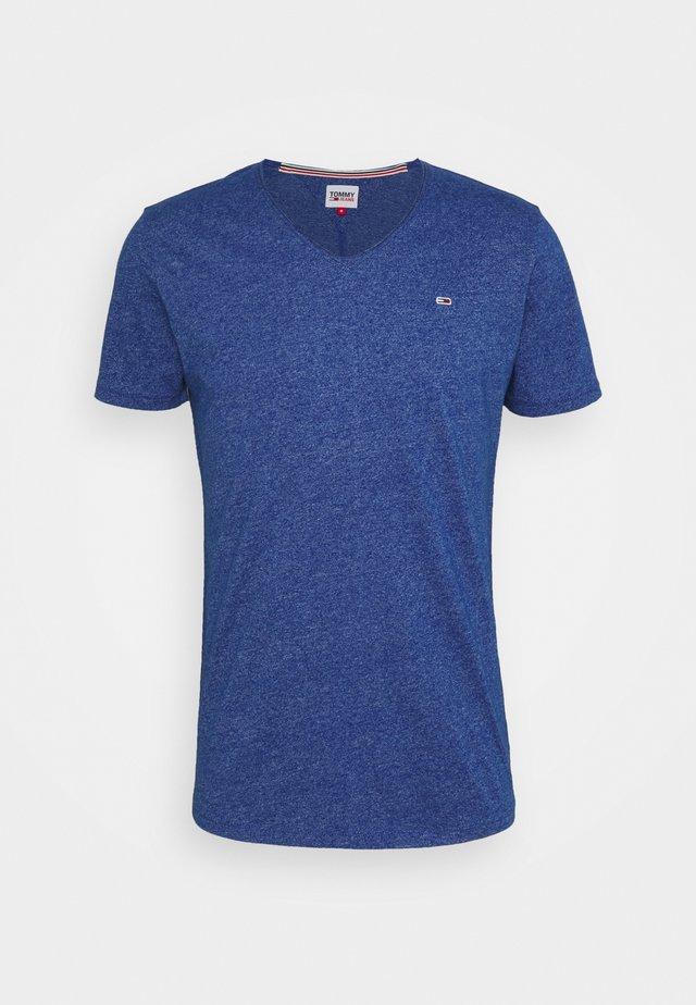 SLIM JASPE VNECK - T-shirt basique - blue