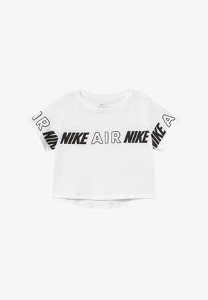 TEE CROP AIR TAPING - Print T-shirt - white