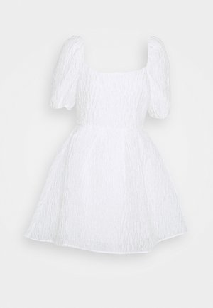 DEEP BACK MINI DRESS - Cocktail dress / Party dress - white