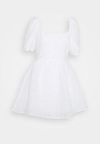 DEEP BACK MINI DRESS - Cocktail dress / Party dress - white