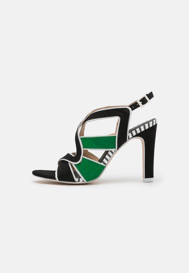 ZOLI - Sandalen - noir/vert