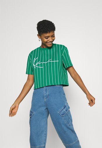 SIGNATURE PINSTRIPE TEE - T-shirt imprimé - green
