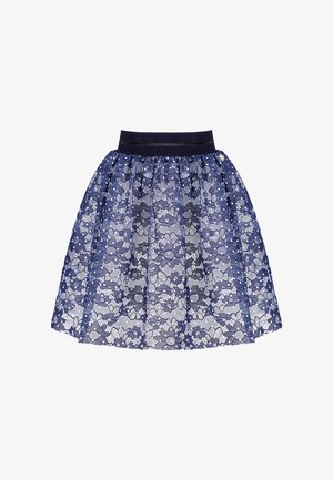 A-line skirt - white and blue