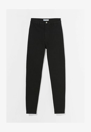 SUPER HIGH WAIST - Džíny Slim Fit - black