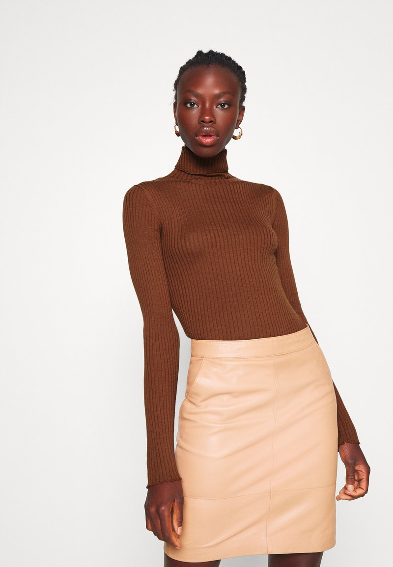 Selected Femme Tall - SLFCOSTA ROLLNECK TALL - Jumper - smoked