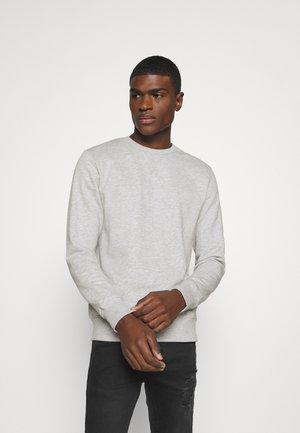 JJMELANGE CREW NECK - Sweatshirt - light grey