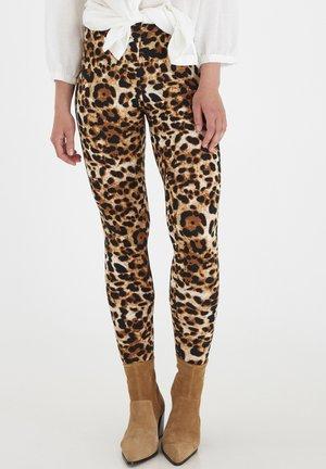 Leggings - Trousers - brown animal mix