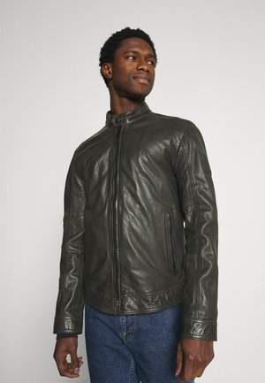 OSCO - Leather jacket - brushed nickel