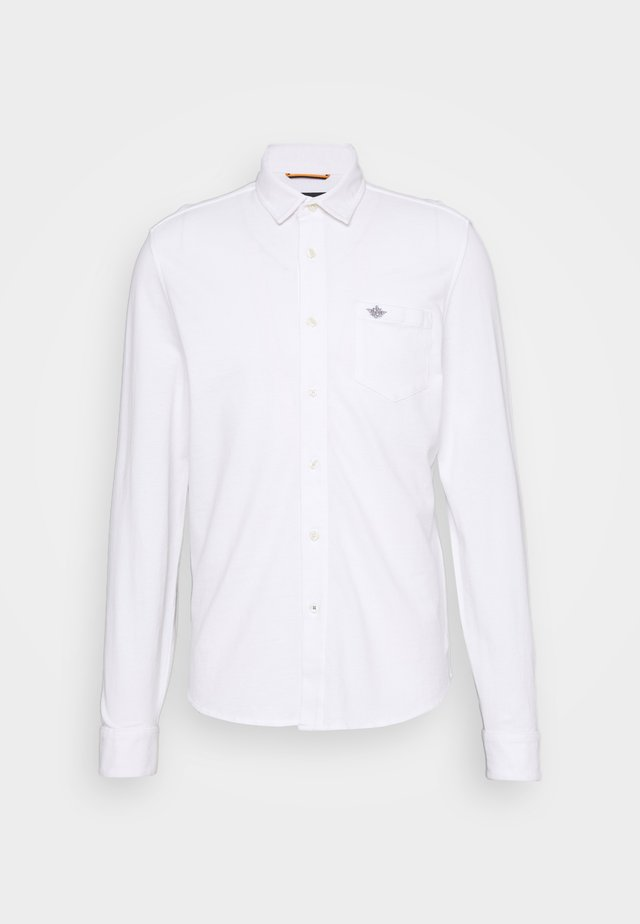 ALPHA BUTTON UP - Shirt - paper white