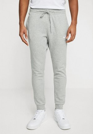 CLUB FRENCH TERRY - Tracksuit bottoms - dark grey heather/white