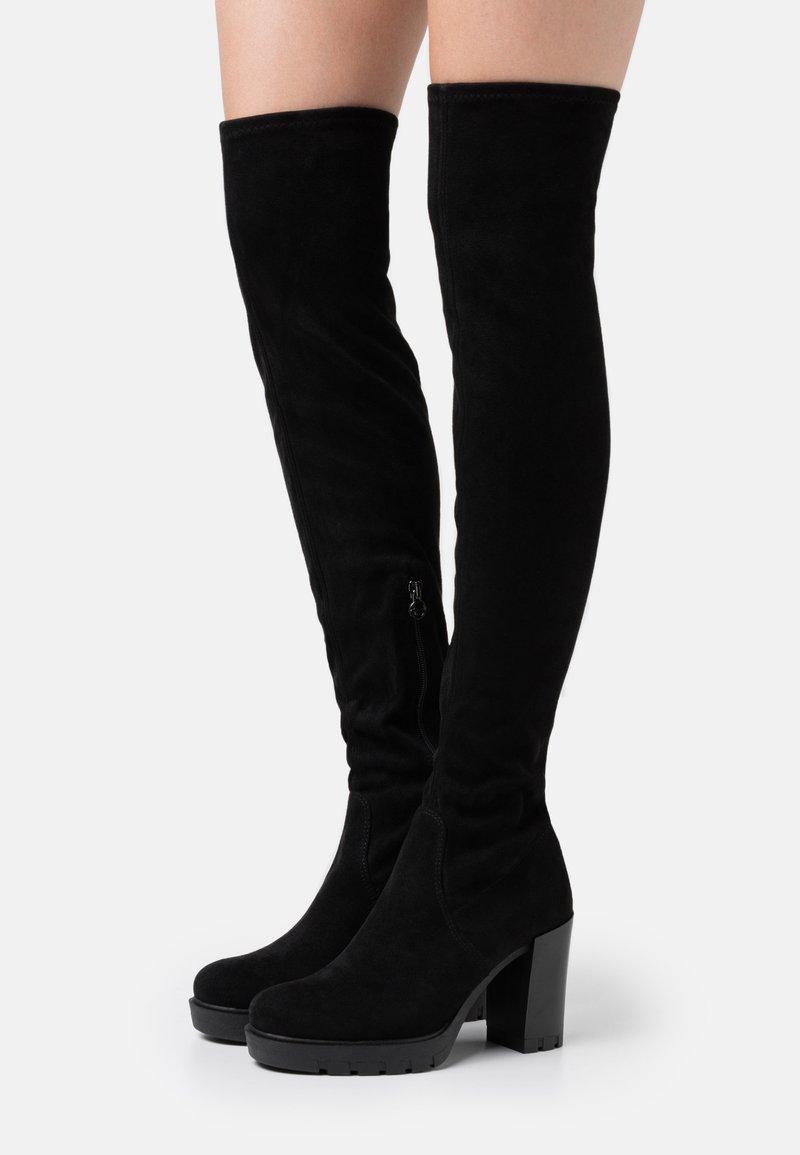 Tamaris - BOOTS - Boots med høye hæler - black