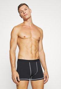 Pier One - 5 Pack - Panties - black/mottled grey - 4