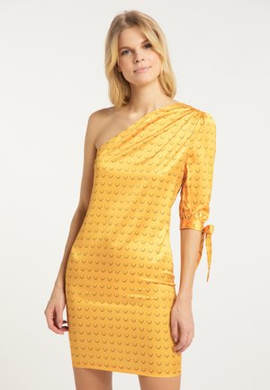 Sukienka etui - senf
