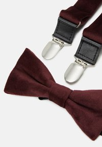 Only & Sons - ONSBOWTIE SUSPENDER SET - Pásek - winetasting - 8