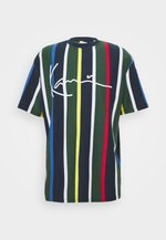 STRIPE TEE - Print T-shirt - navy