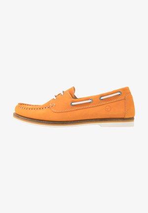 LACE-UP - Båtsko - orange
