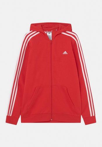 UNISEX - Sweater met rits - vivid red/white