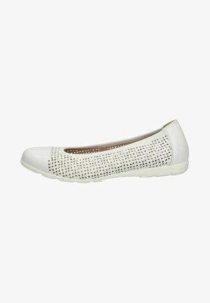 Ballerinat - white nappa