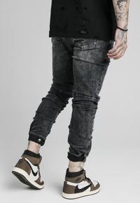 SIKSILK - ELASTICATED CUFF - Jeans slim fit - washed grey - 4