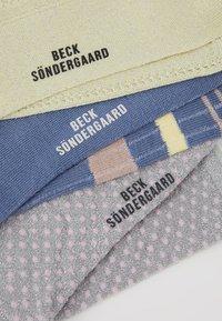 Becksöndergaard - SPORTY RAINBIRD DRAKE SOCK DINA SMALL DOTS 3 PACL - Socks - infinity/yellow/silvergray - 2