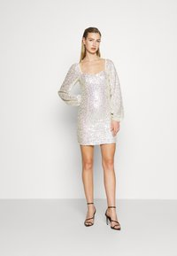 Glamorous - MINI DRESS WITH PUFF LONG SLEEVES - Cocktail dress / Party dress - gold/pink - 1