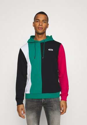 BAIRN - Hoodie - black/teal green/bright white/cerise