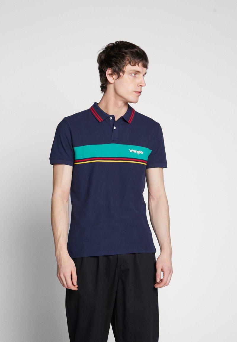 Wrangler - COLOURBLOCK - Polo shirt - navy
