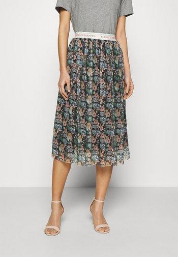 SKIRT PRINTED - A-line skirt - black