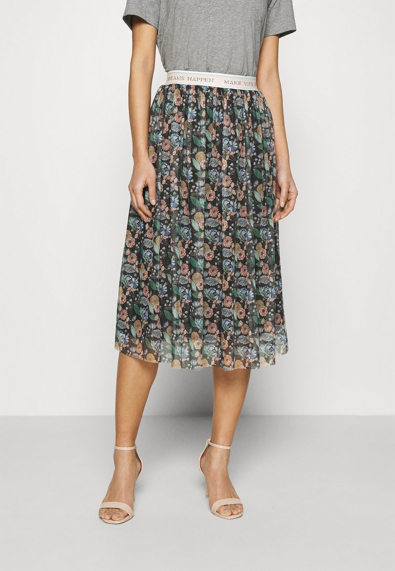 Rich & Royal - SKIRT PRINTED - A-line skirt - black