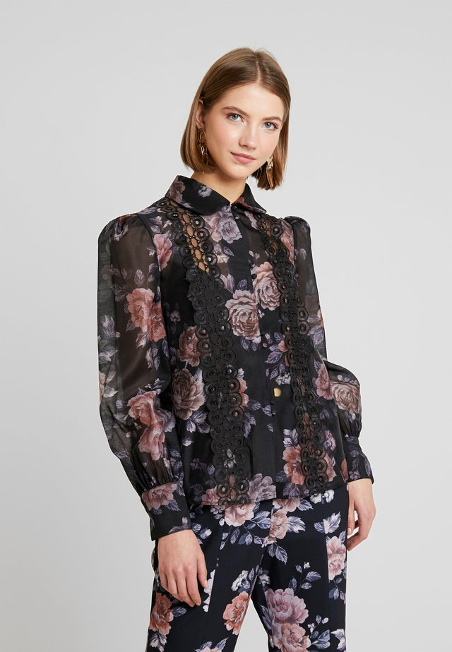 ATOMIC - Button-down blouse - black garden