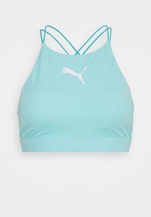 SWIM WOMEN HIGH NECK - Bikini top - blue