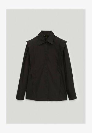MIT FLÜGELCHEN  - Button-down blouse - black