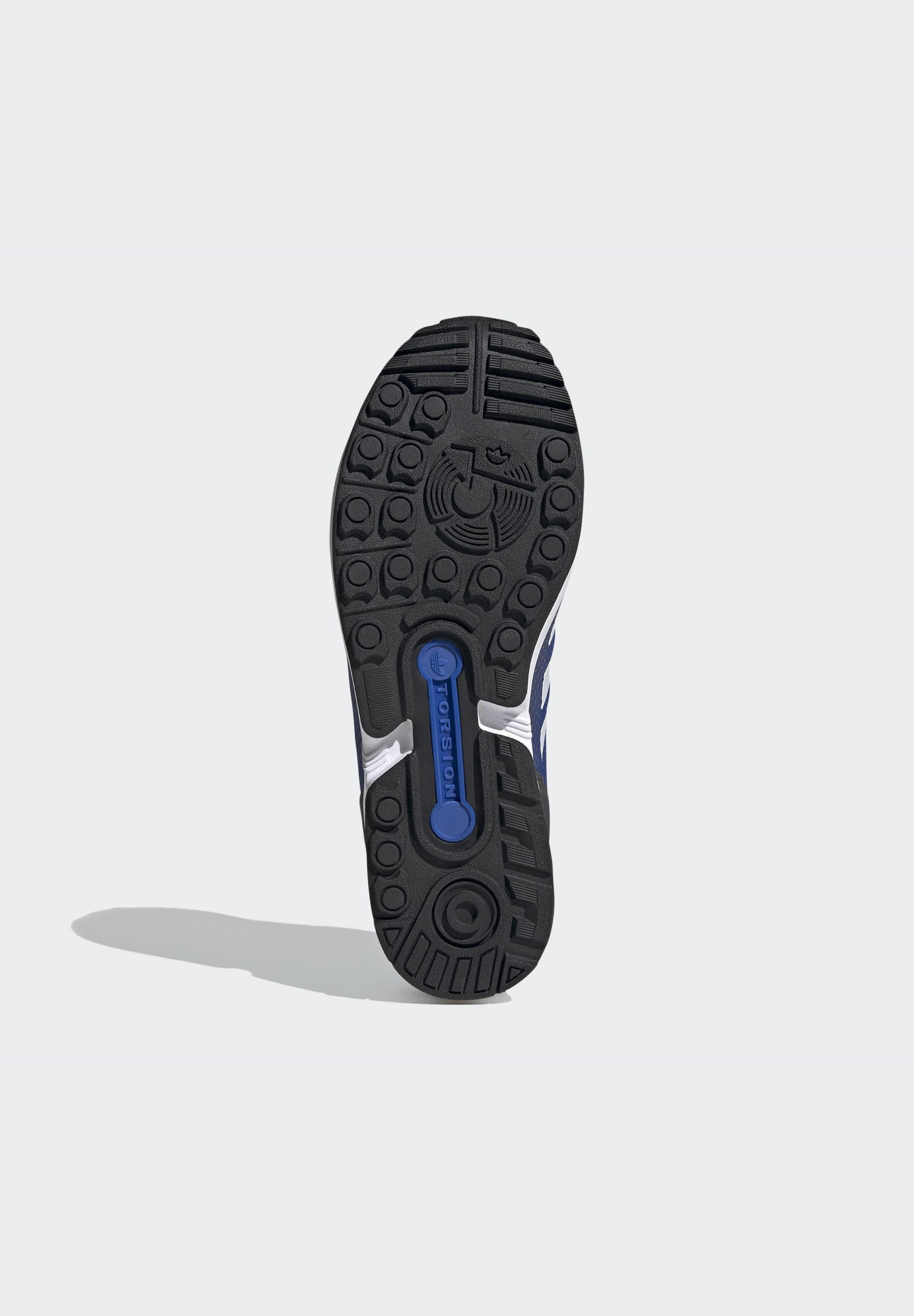 adidas Originals ZX FLUX SHOES - Sneaker low - grey/ white/blue/grau - Herrenschuhe 39B0Q